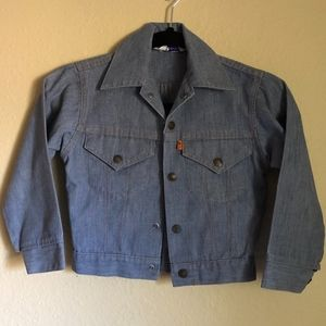 VINTAGE ORANGE LABEL LEVIS CROPPED JACKET